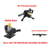 Weapons for SWAT, Police, Navy Seals, Army & Military Mini dolls action figures WEAPONS ACCESSORIES Guns RPG MK19 Gatling Gears
