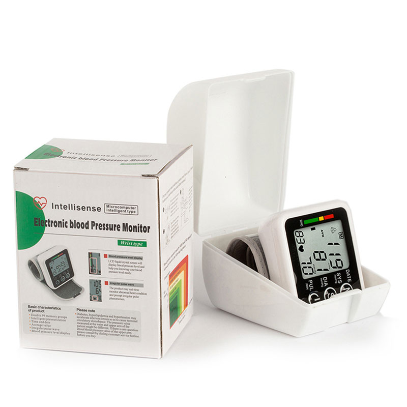 Household Health Care Germany Chip Automatic Wrist Digital Blood Pressure Monitor Tonometer Meter For Measuring And Pulse Rate 25