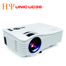 UNIC UC36+ Projector Full Color 1080P 130-inch Screen Portable Multimedia LED Projector with HD AV USB Remote for NoteBook