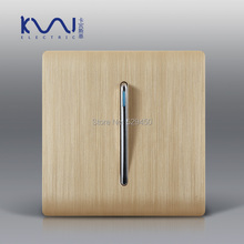 Free Shipping, Kempinski Luxury Wall Switch Panel, 1 Gang 1 Way Light Switch, Champagne Gold Color, C31 sereis, 110~250V