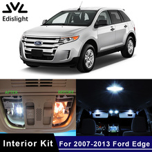 Edislight 11Pcs Canbus White Ice Blue LED Lamp Car Bulbs Interior Package Kit For 2007-2013 Ford Edge Map Dome Trunk Door Light(China)