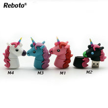 Hot Sale Unicorn USB Flash Drive 64gb 32gb 16gb 8gb 4gb Genuine Cartoon Memory Stick Pendrive 64GB Pen Drive Toy