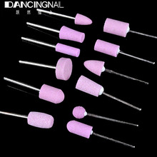 12pcs/bag Ceramic Electric Nail Drill Bits File Professional Nail Art Polishing Grinding Head Tools For Salon Manicure Pedicure