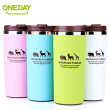 Coffee Mug Cup Stainless Steel Thermo Cup Coffee Tea Mug Milk Water Bottle Drinkware Giraffe Mugs Against Hot Cups For Car Home