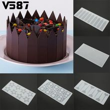 Chocolate Cards 8 Cavities Star Fence Holes Inside Honeycomb Shape Silicone Candy Mold Thin Decoration For DIY Bakery