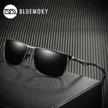 Rectangle Sunglasses Polaroid Sports-Eyewear Male Brand Aluminum BLUEMOKY Men UV400