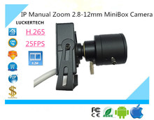 Lukertech IP Manual Zoom 2.8-12mm MiniBox Camera Network All Color H.265/H.264 1080P 25FPS Onvif2.4 CMS XMEYE P2P Survillance
