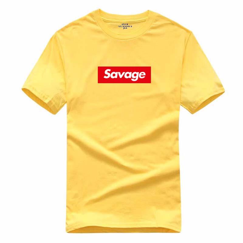 hip-hop Summer Suprem letter print fear red letters cotton T-shirt blouse youth multicolor O-neck short sleeve fashion T-shirt