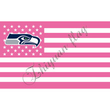 SEAHAWKS flag with pink flag(China)
