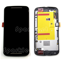 Black LCD For Motorola Moto G2 XT1063 XT1064 XT1068 LCD Display Touch Screen Digitizer Full Assembly With Frame Free Shipping