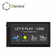 "Ownice C500 Android 6.0 Car GPS Universal Stereo Radio 2 Din Player 7"" 4core 2GB RAM 16GB ROM Support DAB+ 4G LTE WIFI no dvd"