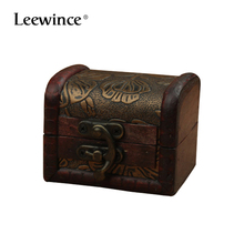 Leewince Vintage European Style Mini Wooden Jewellery Box Wedding Gift Necklace Pendant Rings Gifts Storage Case Vintage(China)