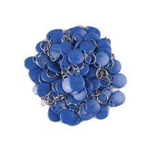 100pcs 125khz TK4100/EM4100 keychains Wholesale New Rfid Proximity Id Card Token Tags Key Keyfobs (Blue)(China)
