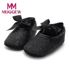 Glitter Baby Shoes Sneaker Anti-slip garden shoes Toddler Kids Baby Soft Sole comfortable Cotton Fabric Toddler shoes(China)