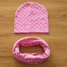 Autumn Winter Baby Hat + scarf 2pcs set Star printing Toddler Beanie Baby Cap Kids Girls Boys Hats Caps