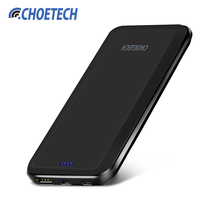 CHOETECH 10000mAh Power Bank For Xiaomi 5V 2.4A Dual Inputs Portable External Battery Charger for iPhone 7 6s Tablets Powerbank(China)
