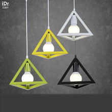 Creative American country triangle diamond industry wind  lighting lamps restaurant cafe bar Pendant Lights  wwy-0051