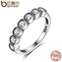 Buy BAMOER 4MM Classic 100% 925 Sterling Silver Alluring Cushion, Clear CZ Finger Ring Women Engagement Jewelry PA7604 for $7.42 in AliExpress store