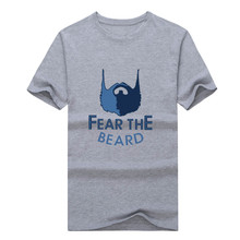 2017  Grizzlies MARC GASOL 33 T-shirt 100% cotton 12 short sleeve fear the beard T shirt 0113-15