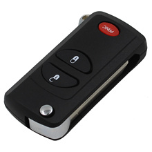 3 Buttons Remote Flip Folding Key Shell Case For Chrysler Dodge Jeep 2 + 1 Panic PT Cruiser Town & Country Voyager Prowler