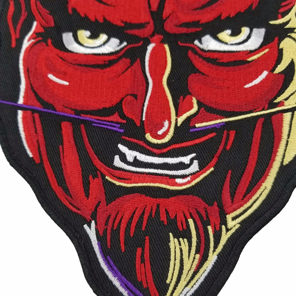 RED DEVIL PATCH vest back motorcycle patch embroidery iron-on cool jacket biker mini patches (2)