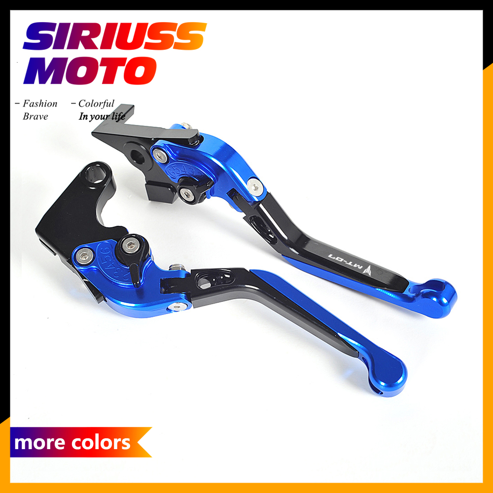 All CNC Motorcycle Foldable Lever Motocross Brake Clutch Levers Case for Yamaha MT-07 FZ-07 FZ MT 07 2014-2016<br>