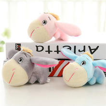 Plush Pendant Toys Lying Big Head Donkey Doll with Sucker Stuffed Animal Plush Toy Home Decoration Kids Pillow Birthday Gift