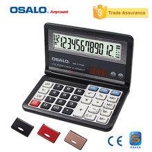 OSALO OS-777VC Folding Function New Electronic Calculator Check Correct Design Calculadora Office School Stationery Supplier(China)