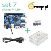 Orange Pi Lite SET7: Pi Lite + Transparent ABS Case+ Power Cable + 8GB Class 10 Micro SD Card Beyond Raspberry