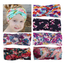 Hot! Children girls headbands Baby cute  vintage flowers  headwraps Girls fashion hair accessories Kids bowknot hair bands