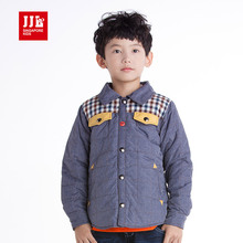 Kids Boys Demin Blues Blouse Joint Keep Warmth Clothes Fall Size 4-11
