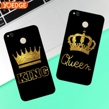 For Huawei Mate 10 P8 P9 Mini P10 Lite 2017 King Queen case coque Case Back cover Luxury(China)