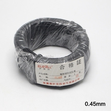 0.45mm Cable Tie Galvanized Tie Wire Black Flate Shape For Garden Wire & Cable Arrangement Approx.100m