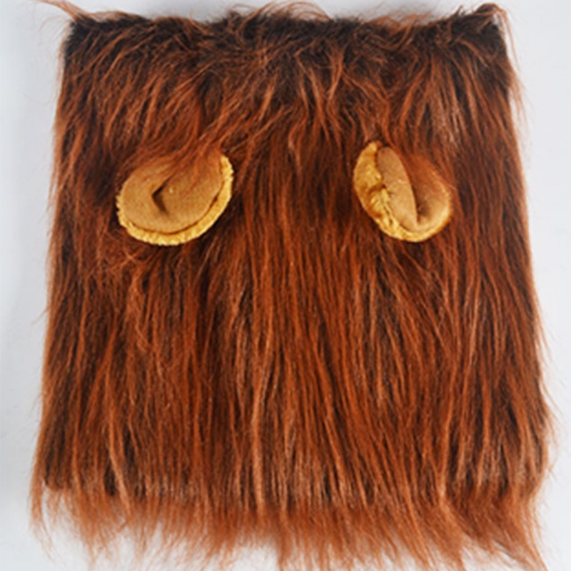 Cute Pet Cosplay Clothes Transfiguration Costume Lion Mane Winter Warm Wig Cat large Dog Party Decoration With Ear Pet Apparel7