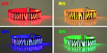 led wrist band with zebra print flashing armband halloween christmas party decortion outdoor event lighting bracelet(China)