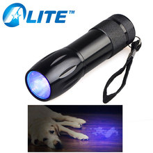 [FREE SHIP] Hot Sale Pet Products Powerful LED 385nM 365nM Black Light UV Flashlight Pet Urine Detector(China)