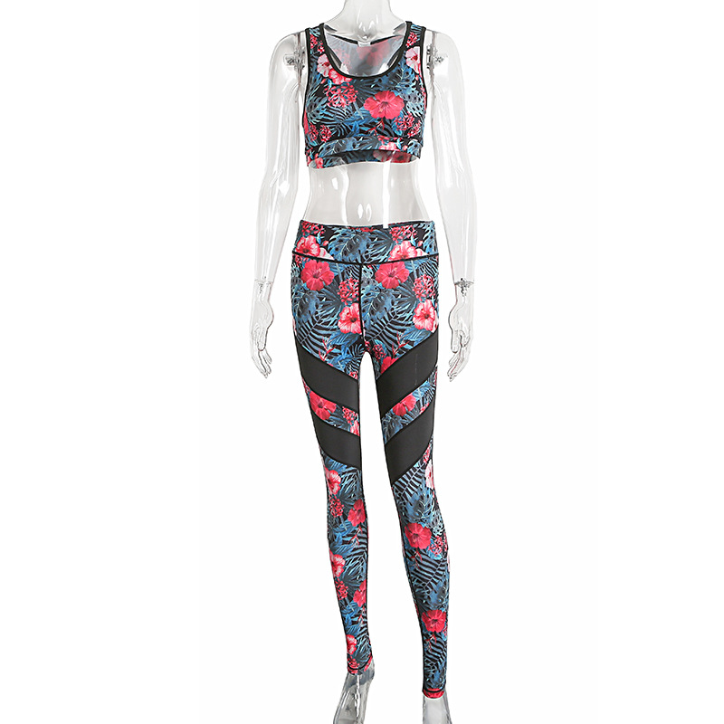 2017 Print Tracksuit, Crop Top And Leggings, Sporting Clothes 8