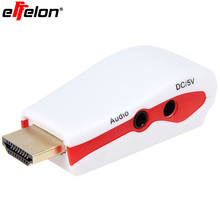 Effelon HDMI to VGA Adapter with Audio Cable Power Male To Female 1080p HDMI to VGA Converter For PC/TV/for Xbox 360 for PS3