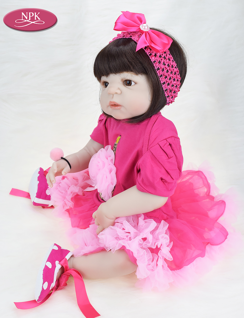 NPK 57CM Full Body Soft Silicone Girls Reborn Baby Doll Bathe Toys Lifelike Princess Girl Dolls Bebe Real Reborn Boneca Menina  (6)