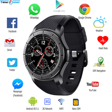 "Time Owner DM368 3G Smart Watch Phone Android OS 5.1 MTK6580 1.39"" AMOLED Display GPS Heart Rate Google Play/Map WIFI Smartwatch"