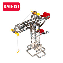 KAINISI Vehicle Metal Model Building Kits Puzzle Crane Tower Enlighten Education Assemblage Toys VS 3d metal model kits