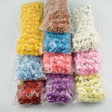 MIX 12 COLOR Artificial mini paper rose flower /Scrapbooking Mulberry Flowers /DIY ORNAMENT GIFT BOX /144pcs/lot FREE SHIPPING