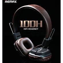 Remax RM-100H 3.5mm plug jack  Headphones Stereo Foldable Headset Earphone with Mic Micphone for iPhone Samsung Computer table