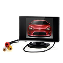 "Car Monitor 3.5"" TFT LCD  Auto TV Car rear view camera with mirror monitor Parking Assist Backup Reverse Monitor Car DVD Screen"