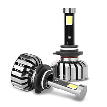 1Pair N7 LED 8000LM 9006 80W automotive headlamps lighting 6000K light lamp Replace Bulb w/ Anti-Dazzle Beam(China)