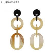 LILIE&WHITE 2017 Geometric Acrylic Drop Earrings For Girls Trendy Dangle Earrings For Women Beach Jewelry Wholesale Gift HC(China)