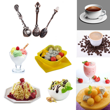 Wholesale 3pcs Retro Fashion Royal Vintage Tea Spoon Coffee Scoops Ice Cream Sponge Baby Feeding Tableware
