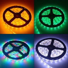 5m 2835 Waterproof Led Strip RGB Desk Light DC 12V 300Leds Flexible Night Lighting Home Decoration Lamp Ribbon Tape Holiday Bulb(China)