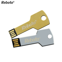 Newest Mini metal Aluminium key shape USB flash drive 4GB 8GB 16GB 32GB 64GB usb memory stick Pendrive Flash Drive