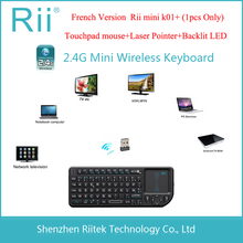 Rii mini k01+ Wireless Keyboard 2.4G RF Touchpad mouse Backlit LED Laser Pointer Combo Handheld Teclado for PC Android TV Box(China)